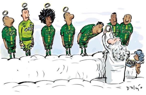 #ForçaChape: il calcio si commuove via Twitter –GALLERY