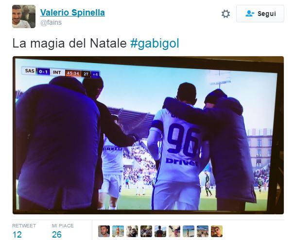 Sassuolo-Inter, Gabigol entra e si fa ammonire: su Twitter diventa GabiGiall –GALLERY