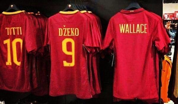 Nuovo articolo al Roma Store: dopo il derby spunta la maglia diWallace