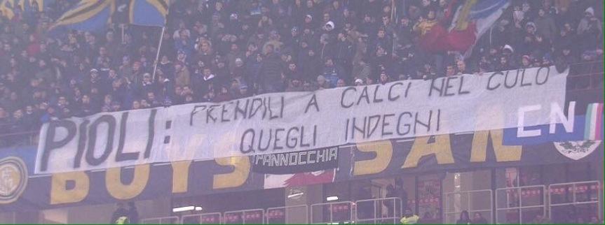 La Curva dell'Inter non ha più parole, soloparolacce!
