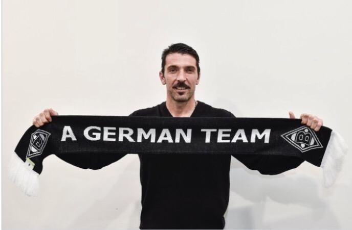 Buffon veste con stile un altro bianconero: quello del BorussiaMönchengladbach