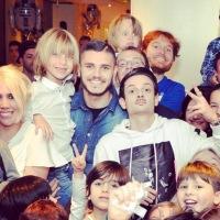 Icardi festeggia il figlio di Maxi Lopez con Star Wars e Rovazzi!