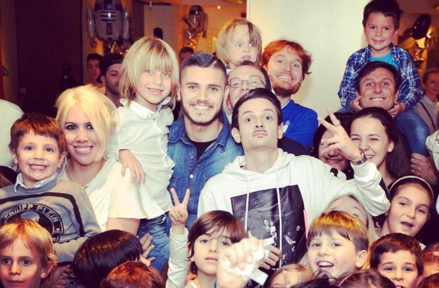Icardi festeggia il figlio di Maxi Lopez con Star Wars eRovazzi!