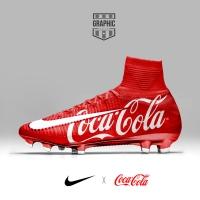 Avete mai visto scarpe da calcio della Coca Cola?