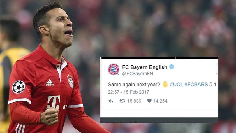 Il Bayern sfotte l'Arsenal su Twitter e i tifosi inglesi vendono ibiglietti