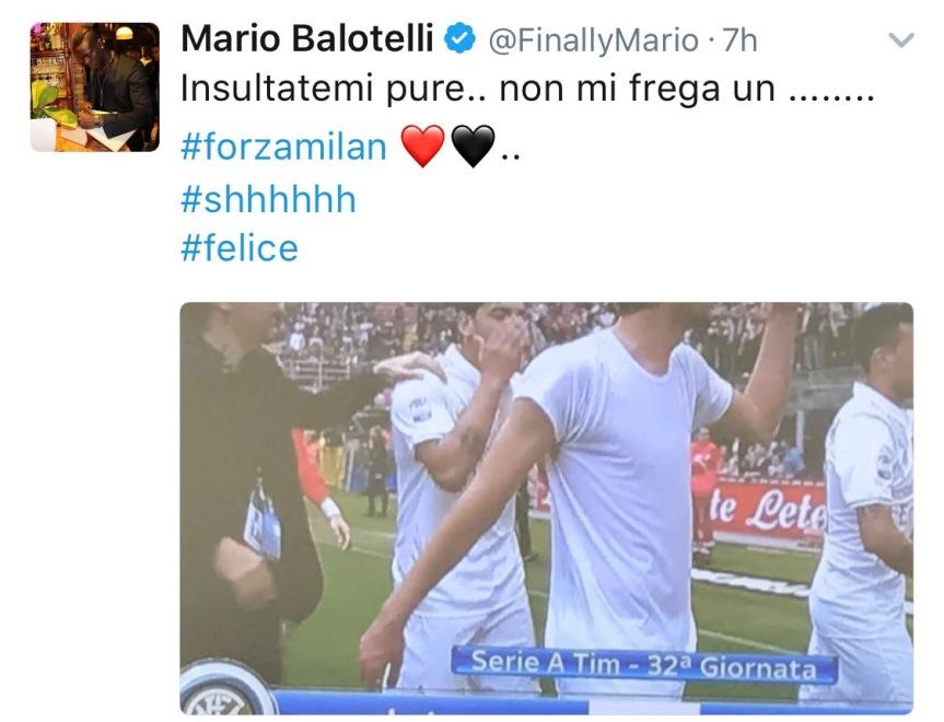 """Balo, cuore rossonero: """"Adesso insultatemi"""" ed esulta al gol diZapata"""
