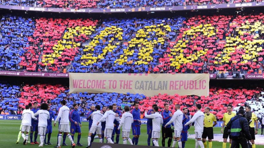"""Welcome to the Catalan Republic"": ecco la propaganda del Camp Nou"